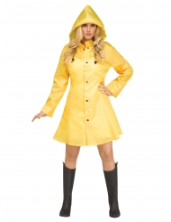 Disfraz impermeable amarillo mujer