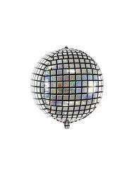 Globo aluminio bola disco 40 cm
