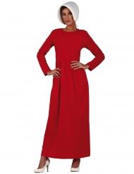 Disfraz sirvienta rojo mujer