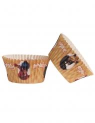 25 Moldes cupcakes de papel Ladybug™ 5 x 3 cm