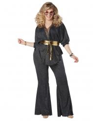 Disfraz disco brillante talla grande mujer