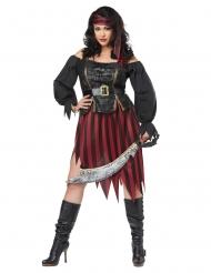 Disfraz de pirata talla grande mujer