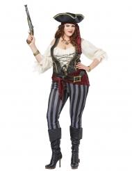 Disfraz pirata talla grande mujer