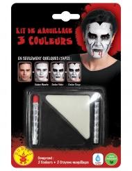 Maquillaje blanco y negro y 2 lápices