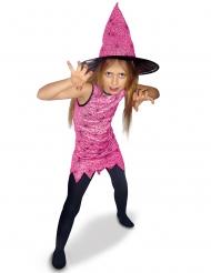 Disfraz brujita rosa niña