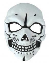 Máscara de esqueleto blanco y negro para adulto
