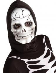 Máscara de esqueleto con capucha para niño