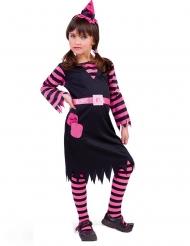 Disfraz bruja negro y rosa niña