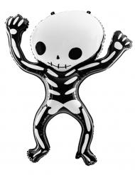 Globo de aluminio esqueleto blanco y negro 84 x 10 cm