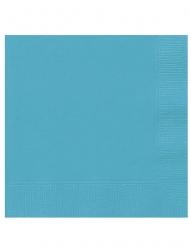 20 Servilletas pequeñas de papel azul turquesa 25 x 25 cm