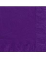 20 Servilletas pequeñas de papel morado 25 x 25 cm