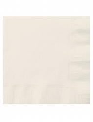 20 Servilletas pequeñas de papel marfil 25 x 25 cm