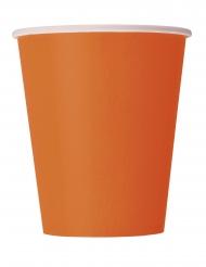 14 Vasos de cartón naranja 266 ml
