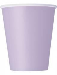 8 Vasos de cartón lavanda 266 ml