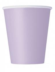 14 Vasos de cartón lavanda 266 ml