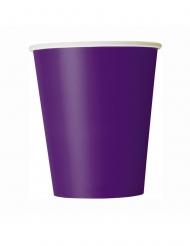 8 vasos de cartón morado 266 ml