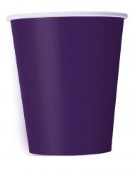 14 Vasos de cartón morados 266 ml