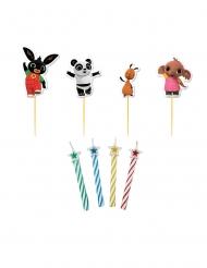 Kit 4 velas y picos personajes Bing™ 6 cm