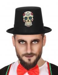 Sombrero Día de los muertos negro