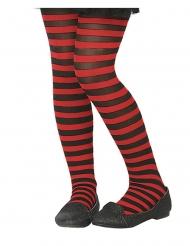 Medias rayadas rojo y negro niños