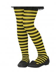 Medias rayadas amarillo y negro niño