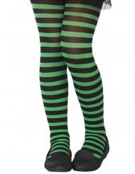 Medias rayadas verde y negro niño