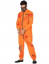 Disfraz de prisionero ensangrentado hombre