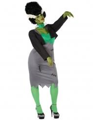Disfraz monstruo artifial verde mujer talla grande