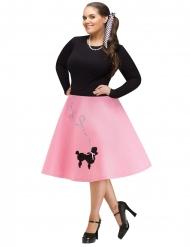 Disfraz falda años 50 mujer