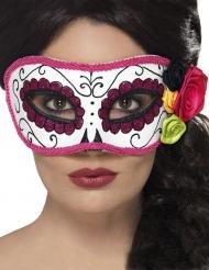 Máscara veneciana contornos rosa