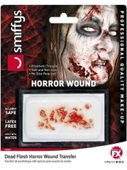 Calcomanía herida de zombie adulto