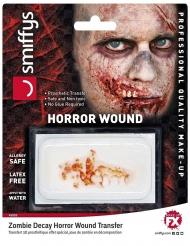 Calcomanía con agua de mandíbula zombie