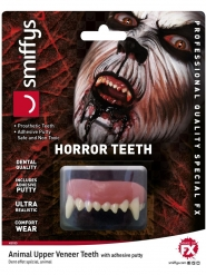 Dientes animal de horror adulto