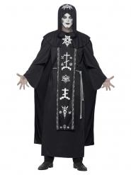 Disfraz ritual de artes obscuros negro adulto
