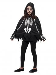 Poncho esqueleto niño