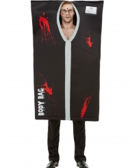 Disfraz de bolsa de muerto adulto