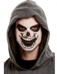 Kit de maquillaje con tatuaje boca de esqueleto adulto