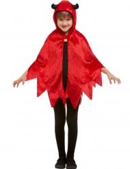 Capa diablillo con capucha terciopelo rojo niño