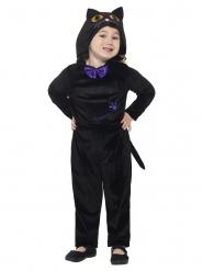 Disfraz de gato negro terciopelo niño