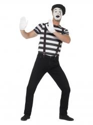 Disfraz de mimo con maquillaje hombre