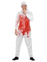 Disfraz de serial killer ensangrado hombre
