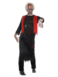 Disfraz sacerdote zombie negro hombre