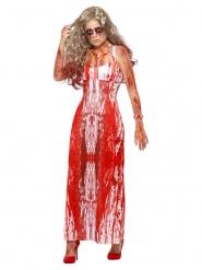 Disfraz reina del baile ensangrentada mujer