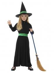 Disfraz brujita verde niña