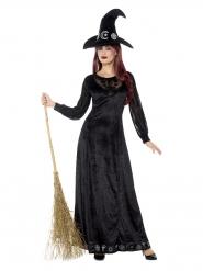 Disfraz de bruja encantadora mujer