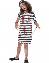 Disfraz prisionero encadenado zombie niña