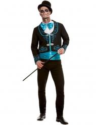Disfraz Día de los muertos turquesa hombre