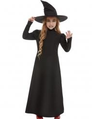 Disfraz clásico bruja negro niña
