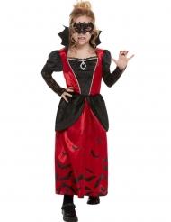 Disfraz vampiresa gótica enmascarada niña