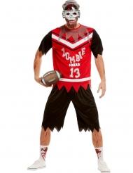Disfraz futbolista americano zombie hombre